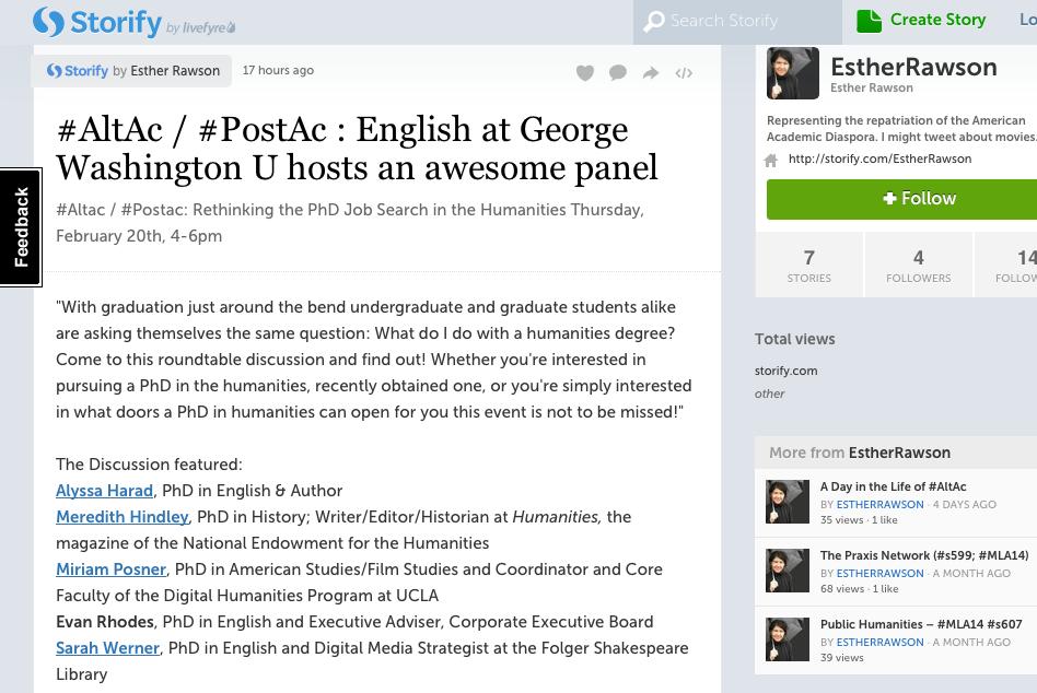 Feb 2014 PostAc AltAc Twitter