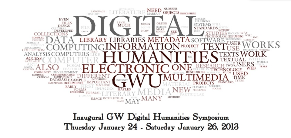 GW DH Symposium 2013 wordcloud